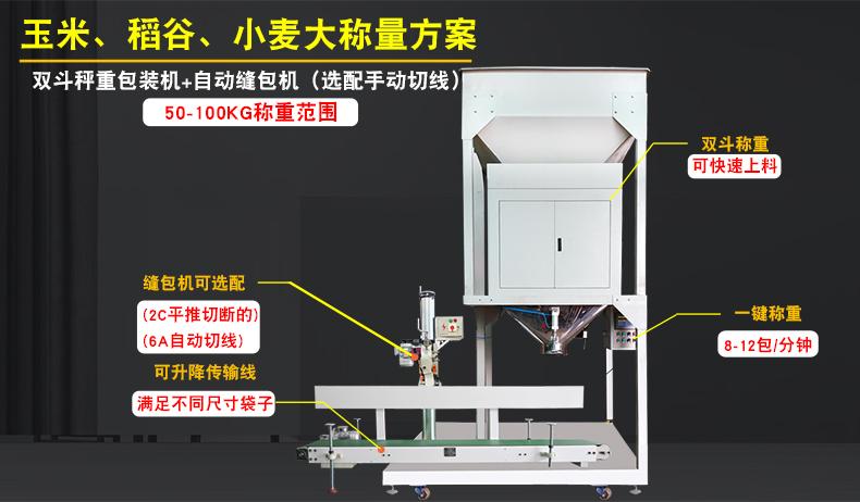 25-100kg玉米 稻谷 小麦大称量包装机 南衡称重